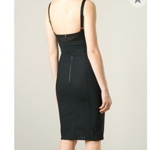 Dolce & Gabbana satin bustier  corset dress
